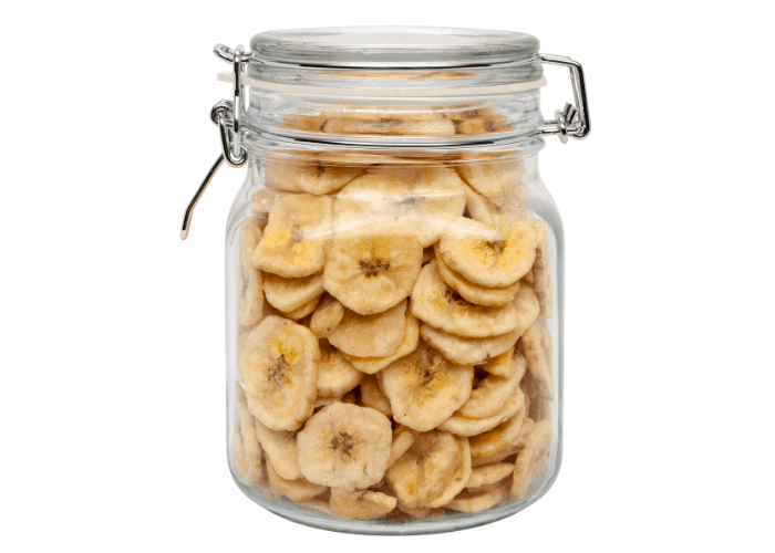 Banana Chips in a container