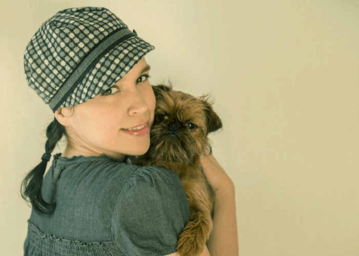 Brussels Griffon with a girl