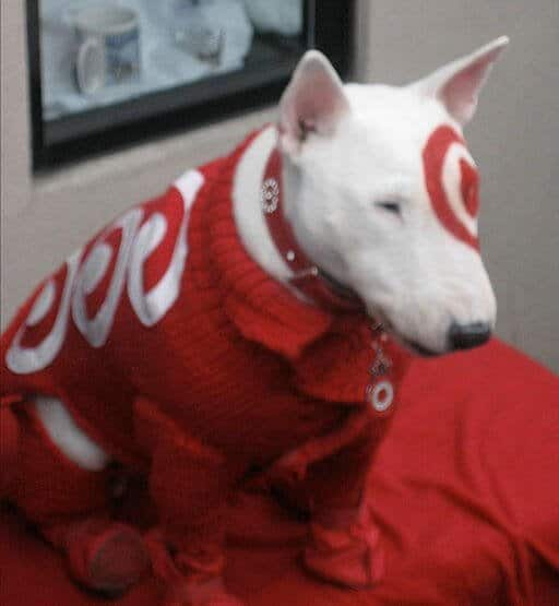Bullseye, the official mascot of Target Corporation