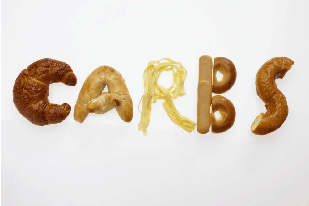 Carbohydrates in fancy lettering