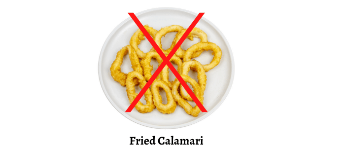 Do not fry calamari sign