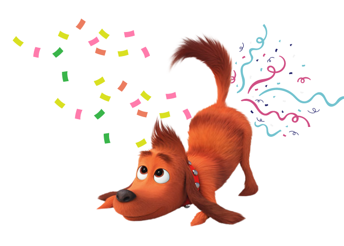 Max from the grinch with confetti image