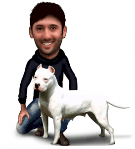 Pablo's photo in digital caricature