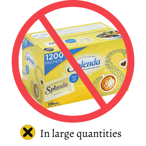 no splenda sign in large quantities